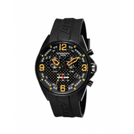 Montre carbone cadran orange