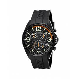 Montre cadran carbone Torgoen noir/orange