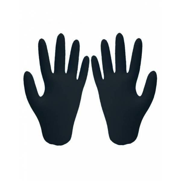 Gants de protection en nitrile noir - Gant latex noir ...